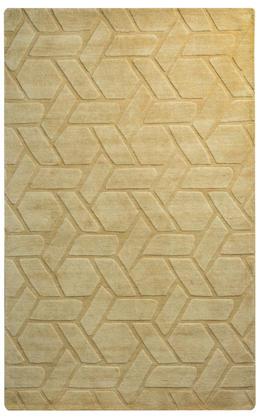 Rizzy Home Technique TC8286 Yellow/Gold Solid Area Rug