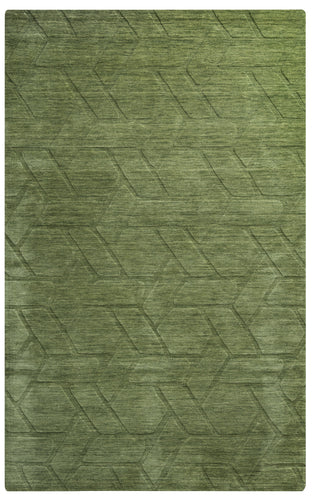 Rizzy Home Technique TC8288 Green/Olive Solid Area Rug