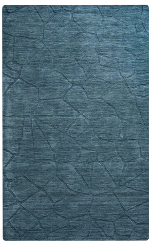 Rizzy Home Technique TC8290 Blue/Teal Solid Area Rug