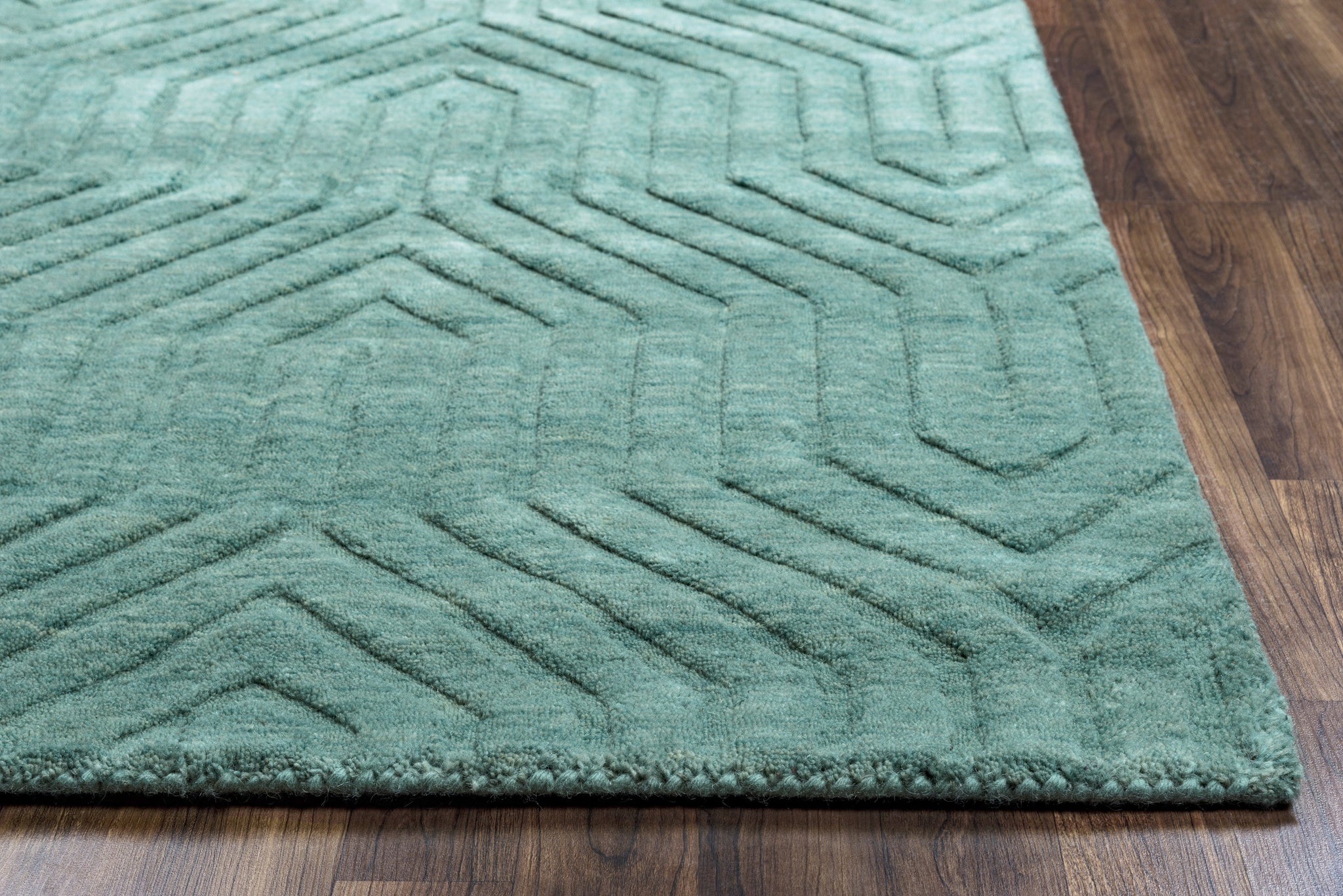 Rizzy Home Technique Tc8577 Blue Dark Teal Solid Area Rug