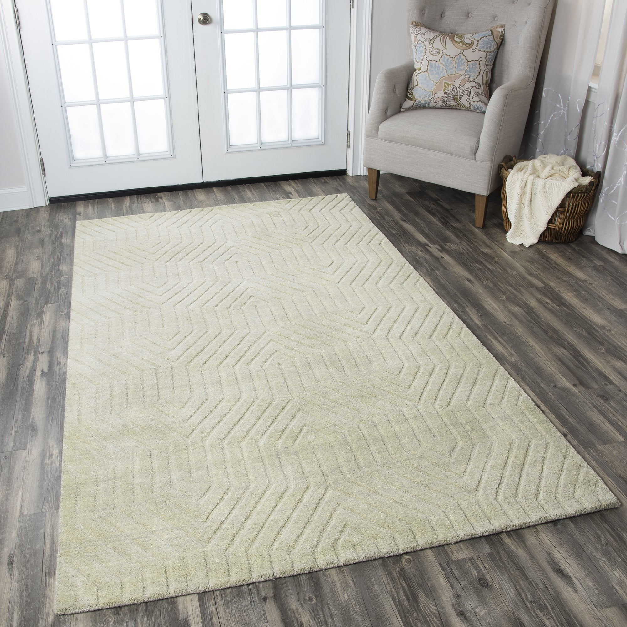 Rizzy Home Technique Tc8581 Light Gray Solid Area Rug