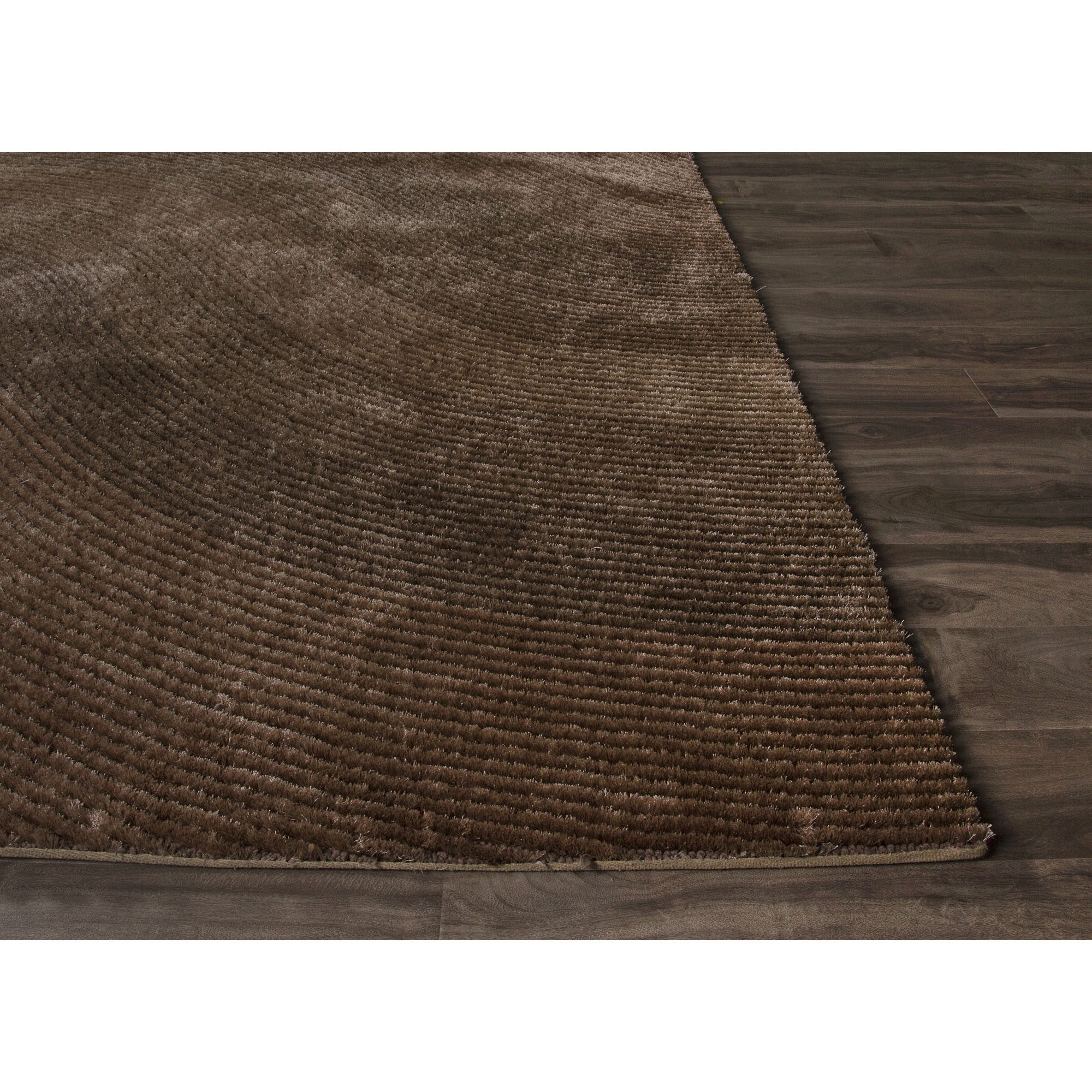 Jaipur Rugs Shags Solid Pattern Brown Taupe Polyester Area