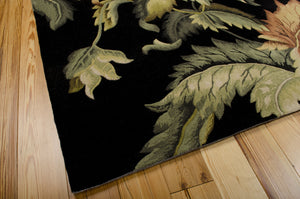 Nourison Tropics Black Area Rug TS05 BLK (Rectangle)