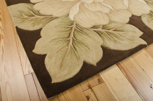 Nourison Tropics Brown Area Rug TS09 BRN (Rectangle)