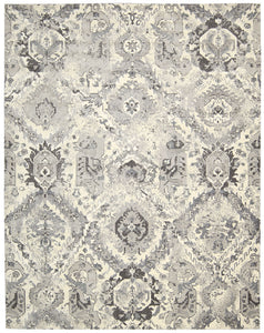 Nourison Twilight Ivory Grey Area Rug TWI03 IVGRY