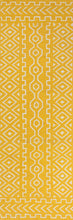 Load image into Gallery viewer, Jaipur Rugs Flat-Weave Tribal Pattern Yellow/Ivory Wool Area Rug