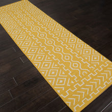 Load image into Gallery viewer, Jaipur Rugs FlatWeave Tribal Pattern Yellow/Ivory Wool Area Rug UB19 (Runner)