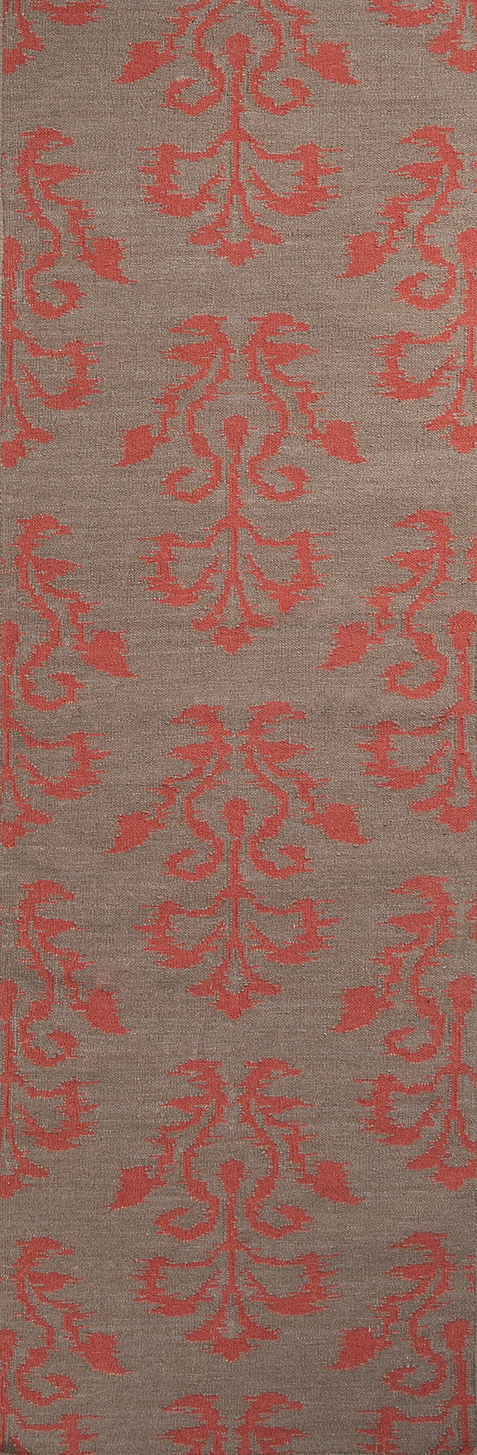 Jaipur Rugs Flat-Weave Tribal Pattern Gray/Red Wool Area Rug