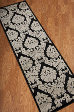Load image into Gallery viewer, Nourison Ultima Black Grey Area Rug UL513 BLKGY (Runner)