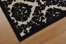 Load image into Gallery viewer, Nourison Ultima Ivory Black Area Rug UL513 IVBLK
