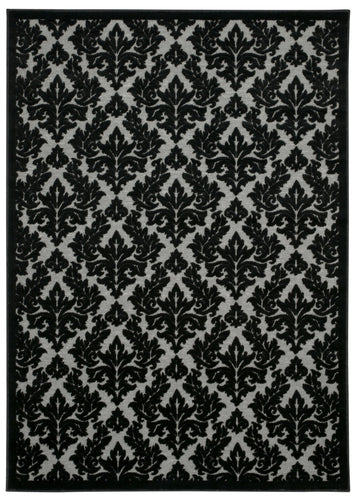 Nourison Ultima Grey Black Area Rug UL632 GRYBK