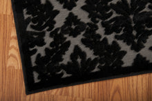 Load image into Gallery viewer, Nourison Ultima Grey Black Area Rug UL632 GRYBK (Runner)