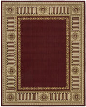 Load image into Gallery viewer, Nourison Vallencierre Burgundy Area Rug VA17 BUR