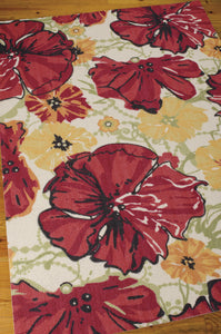 Nourison Vista Ivory Red Area Rug VIS12 IVRED