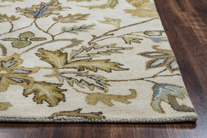 Rizzy Home Volare VO1607 Ivory Floral Area Rug