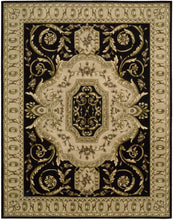 Load image into Gallery viewer, Nourison Versailles Palace Black Area Rug VP14 BLK