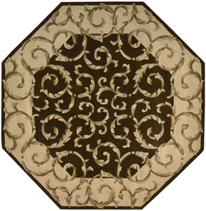Nourison Versailles Palace Chocolate Area Rug VP43 CHO