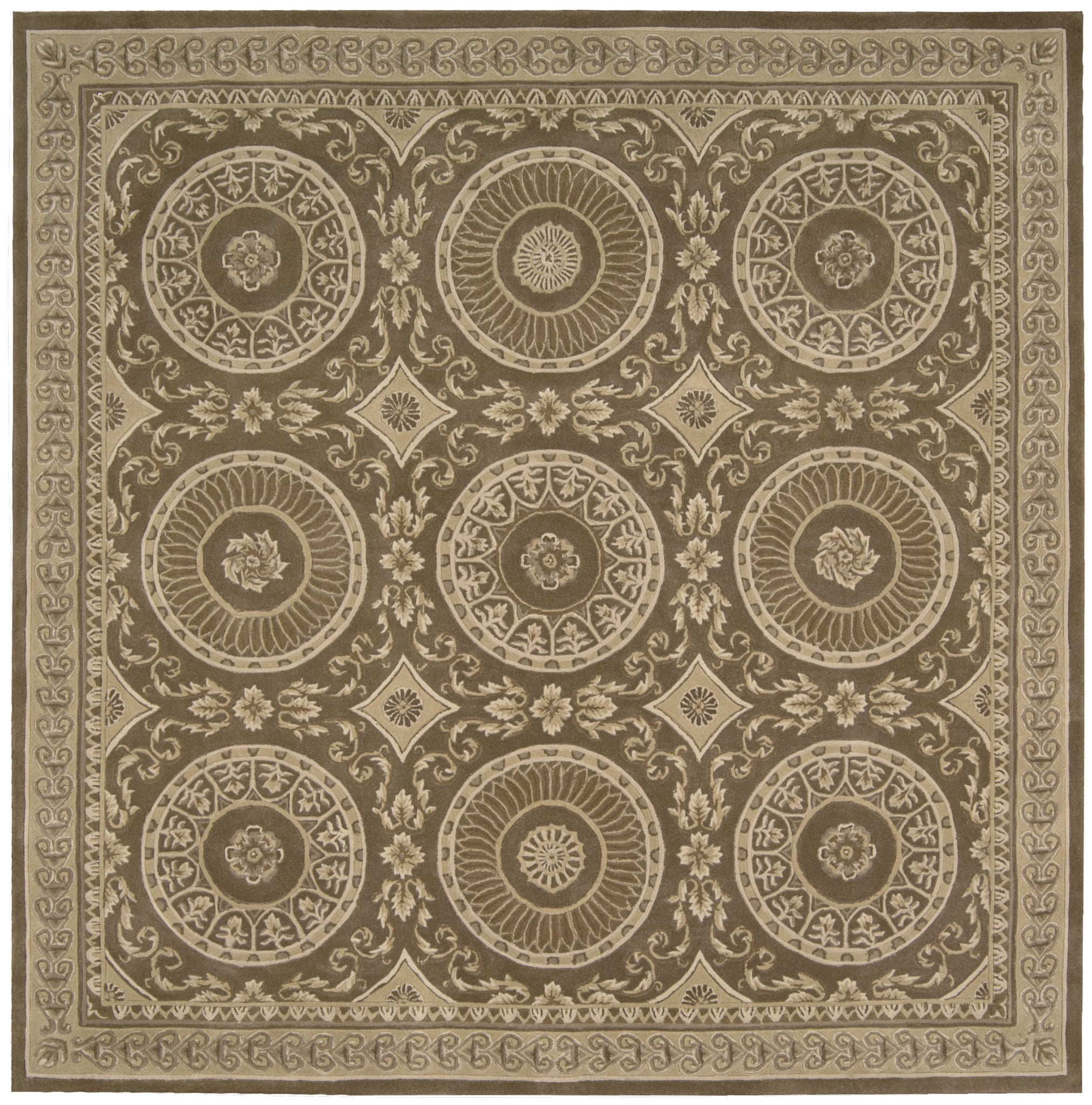 Well-known Nourison Versailles Palace Mocha Area Rug VP50 MOC (Square  JN71