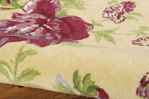 Waverly Artisanal Delight Forever Yours Buttercup Area Rug By Nourison WAD01 BTRCP