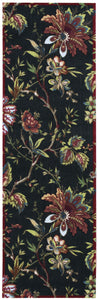 Waverly Artisanal Delight Felicite Noir Area Rug By Nourison WAD06 NOIR