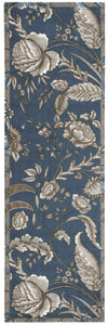 Waverly Artisanal Delight Fanciful Indigo Area Rug By Nourison WAD07 IND