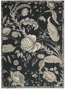 Waverly Artisanal Delight Fanciful Noir Area Rug By Nourison WAD07 NOIR
