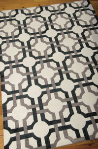 Waverly Artisanal Delight Groovy Grille Licorice Area Rug By Nourison WAD09 LICOR