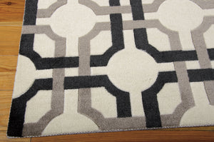 Waverly Artisanal Delight Groovy Grille Licorice Area Rug By Nourison WAD09 LICOR (Rectangle)