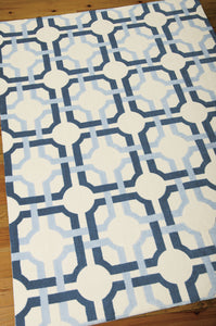Waverly Artisanal Delight Groovy Grille Sky Area Rug By Nourison WAD09 SKY