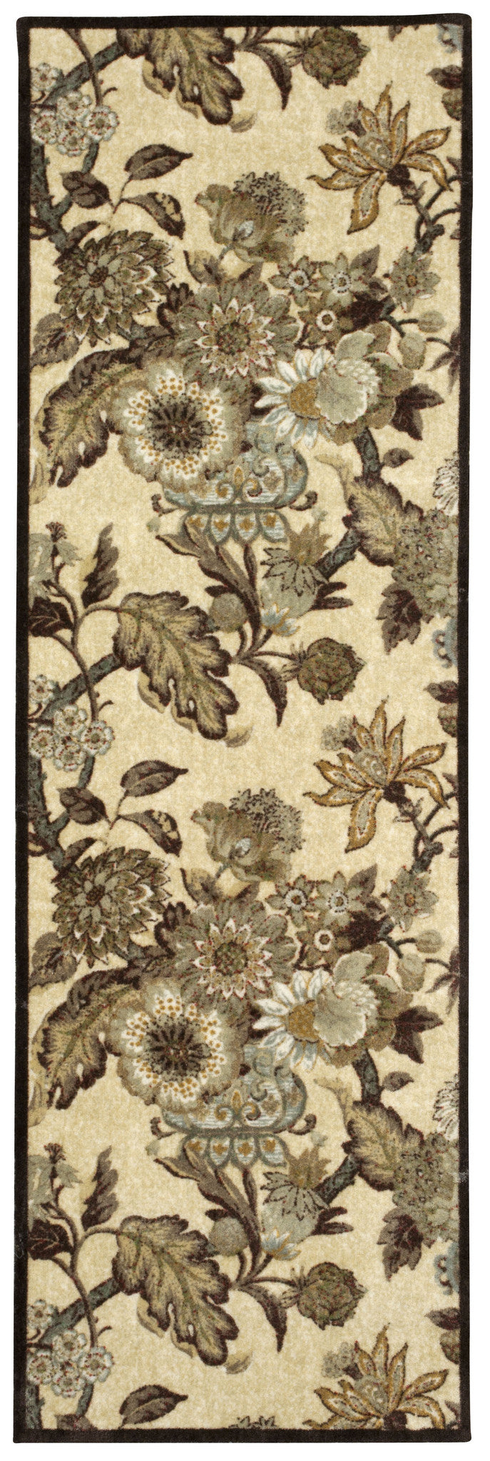 Waverly Artisanal Delight Graceful Garden Birch Area Rug By Nourison WAD20 BIRCH