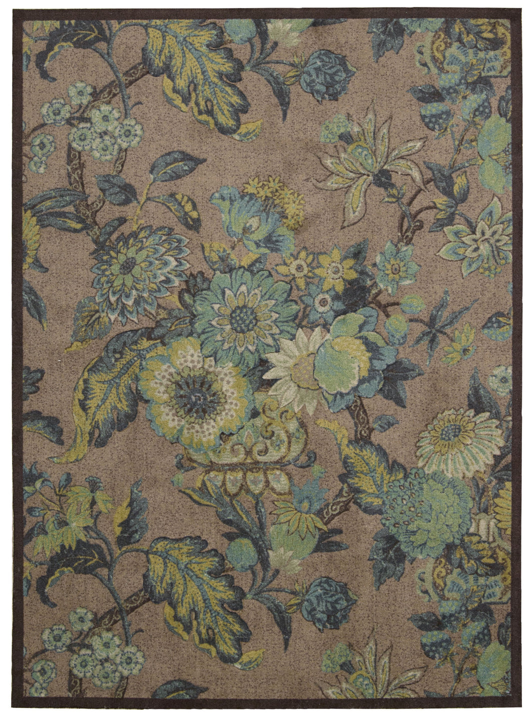 Waverly Artisanal Delight Graceful Garden Blue Jay Area Rug By Nourison WAD20 BLJAY