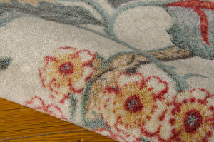 Waverly Artisanal Delight Graceful Garden Poppy Area Rug By Nourison WAD20 POPPY