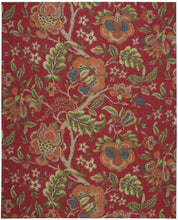 Load image into Gallery viewer, Waverly Global Awakening Imperial Dress Garnet Area Rug By Nourison WGA01 GARNT