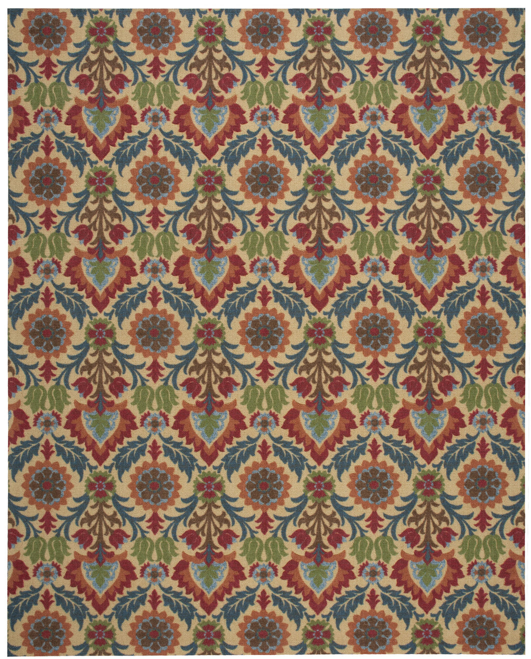 Waverly Global Awakening Santa Maria Spice Area Rug By Nourison WGA03 SPICE