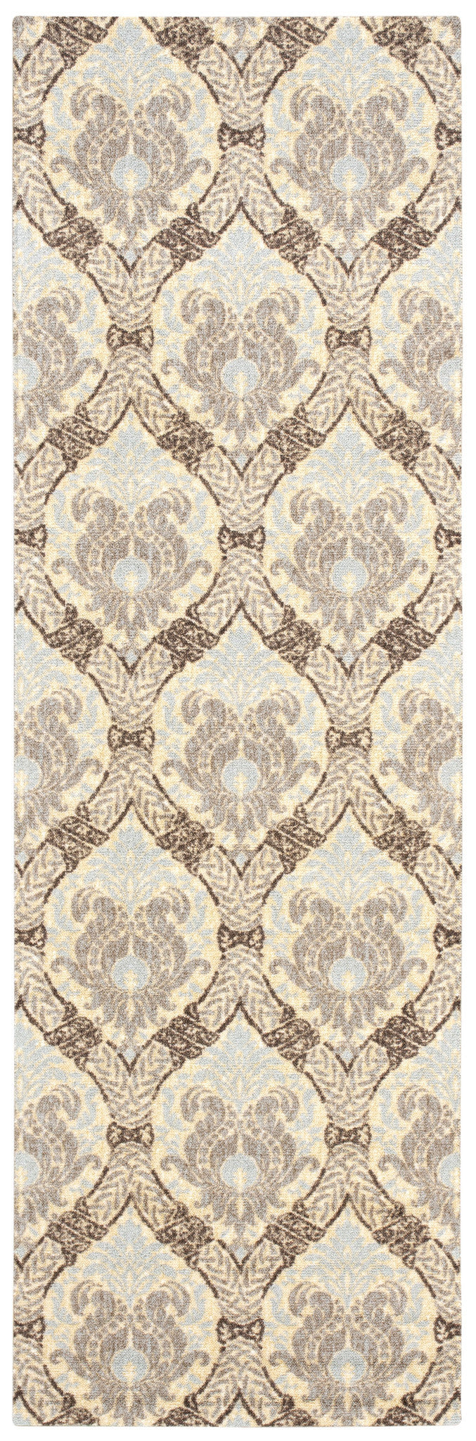 Waverly Treasures Dress Up Damask Birch Area Rug By Nourison WTR03 BIRCH