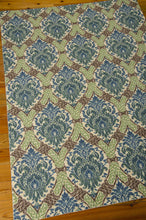 Load image into Gallery viewer, Waverly Treasures Dress Up Damask Blue Jay Area Rug By Nourison WTR03 BLJAY