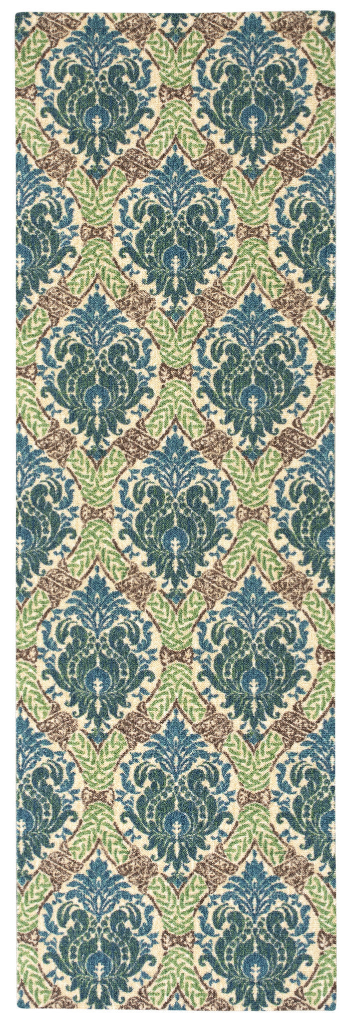 Waverly Treasures Dress Up Damask Blue Jay Area Rug By Nourison WTR03 BLJAY