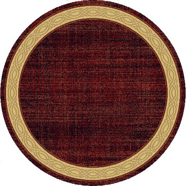 Dynamic Rugs Yazd Red Modern Round Area Rug Rugmethod