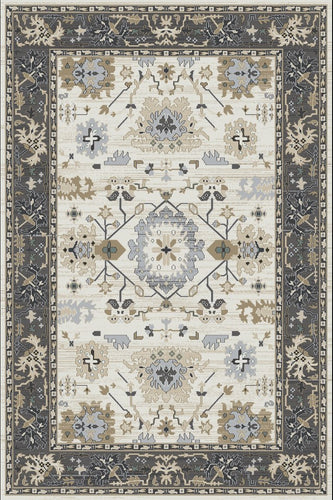 Dynamic Rugs Yazd Ivory/Grey Classic Rectangle Area Rug