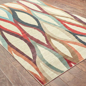 Oriental Weavers Adrienne 4178B Grey/Multi Abstract Area Rug
