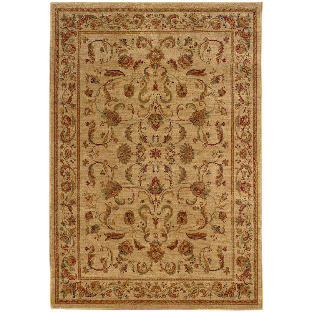 Oriental Weavers Allure 002A1 Beige/Red Oriental Area Rug