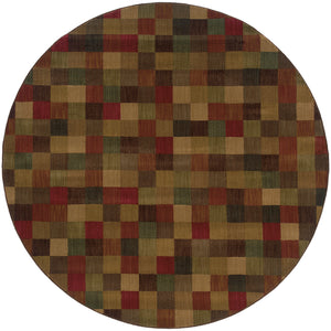 Oriental Weavers Allure 003A1 Brown/Red Geometric Area Rug