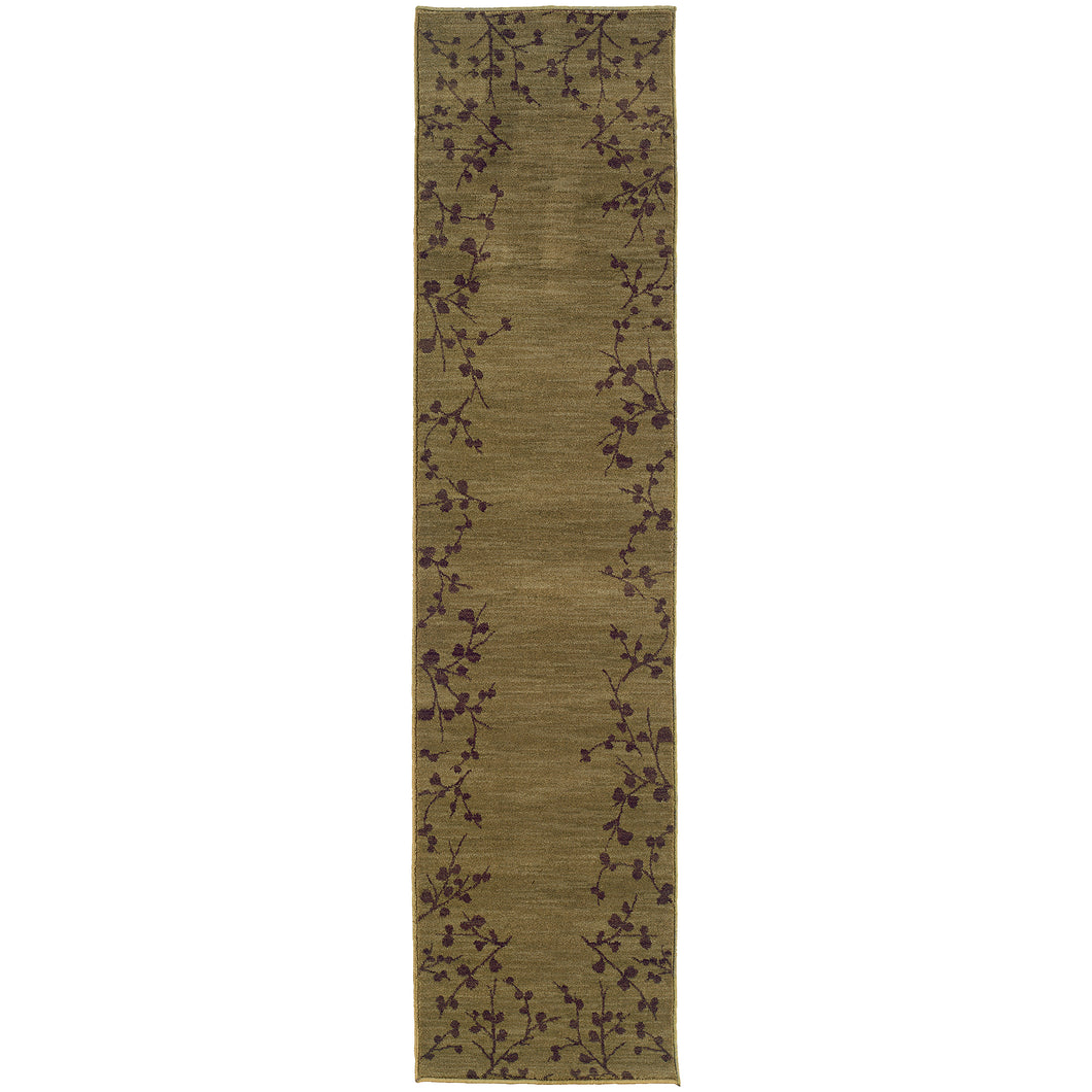 Oriental Weavers Allure 004E1 Green/Brown Floral Area Rug