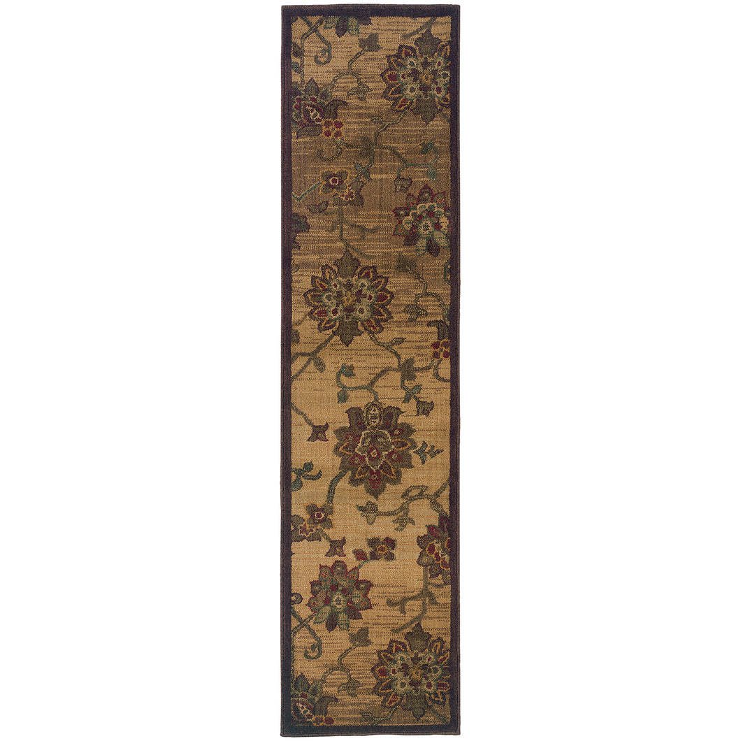 Oriental Weavers Allure 054A1 Beige/Red Floral Area Rug