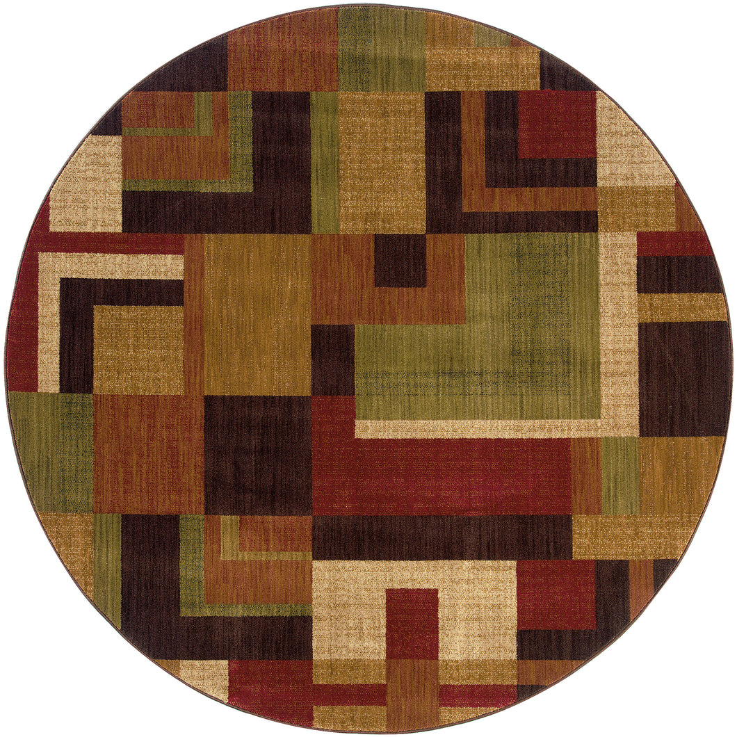 Oriental Weavers Allure 009A1 Red/Gold Geometric Area Rug