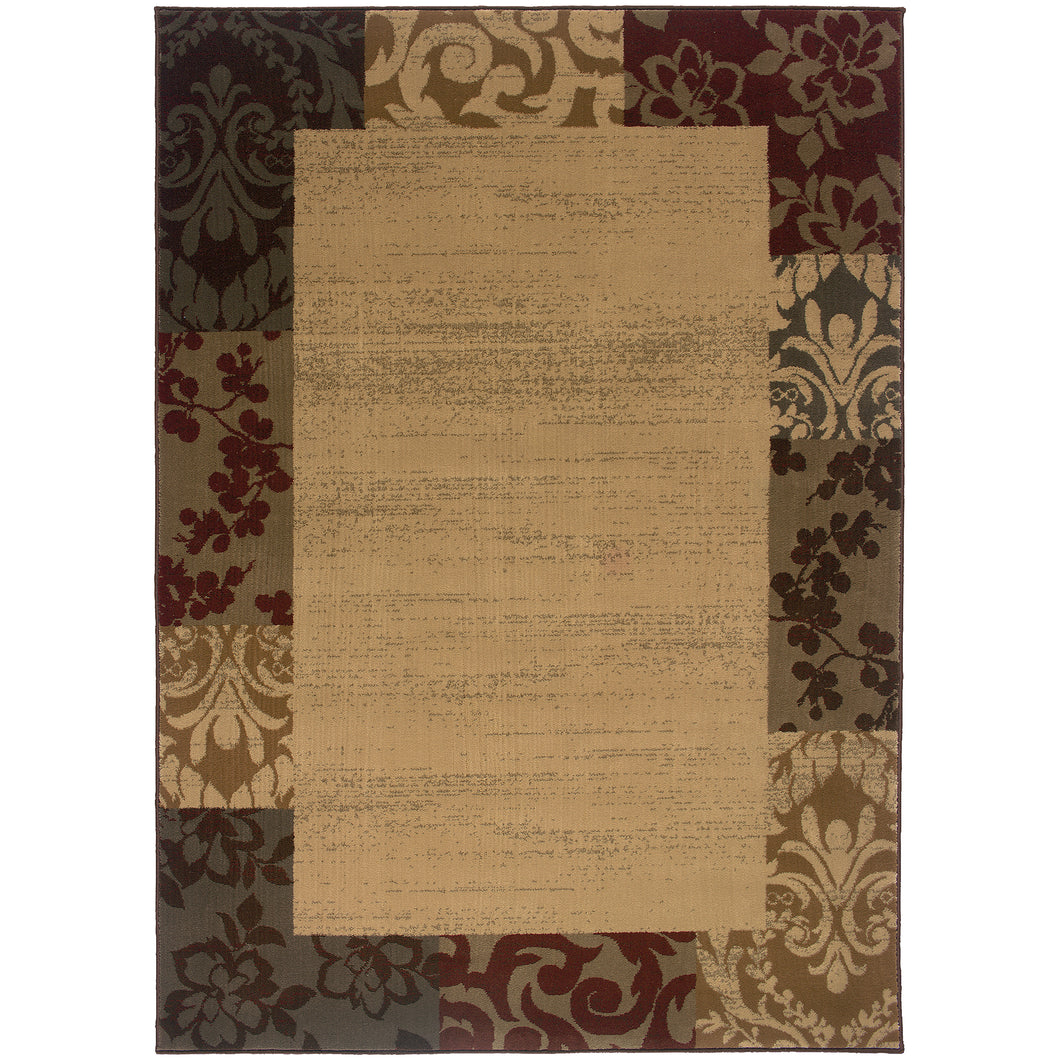 Oriental Weavers Amelia 2166J Beige/Red Border Area Rug