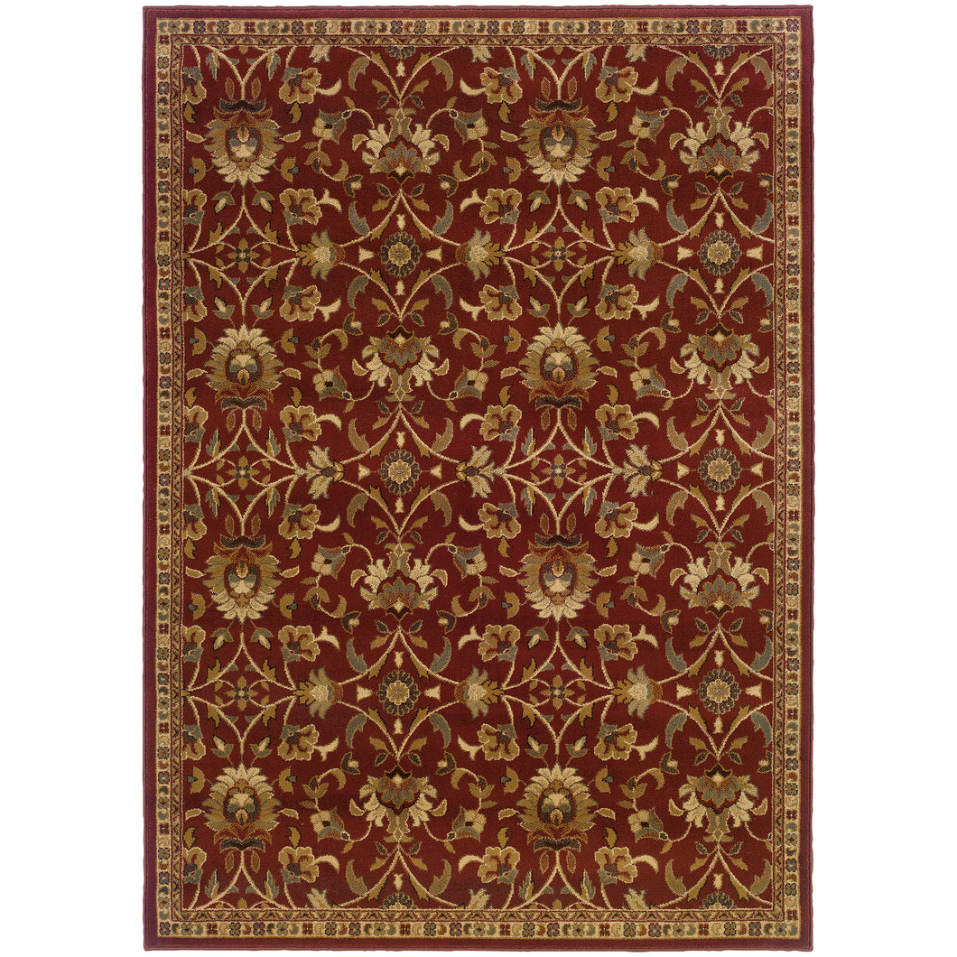 Oriental Weavers Amelia 2331R Red/Ivory Floral Area Rug