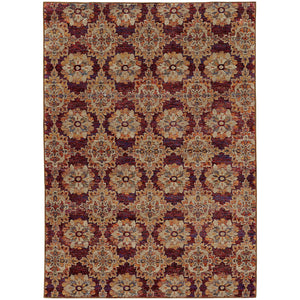 Oriental Weavers Andorra 6883A Red/ Gold Oriental Area Rug
