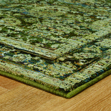 Load image into Gallery viewer, Oriental Weavers Andorra 7125C Green/ Brown Oriental Area Rug