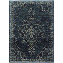 Load image into Gallery viewer, Oriental Weavers Andorra 7135F Blue/ Blue Oriental Area Rug